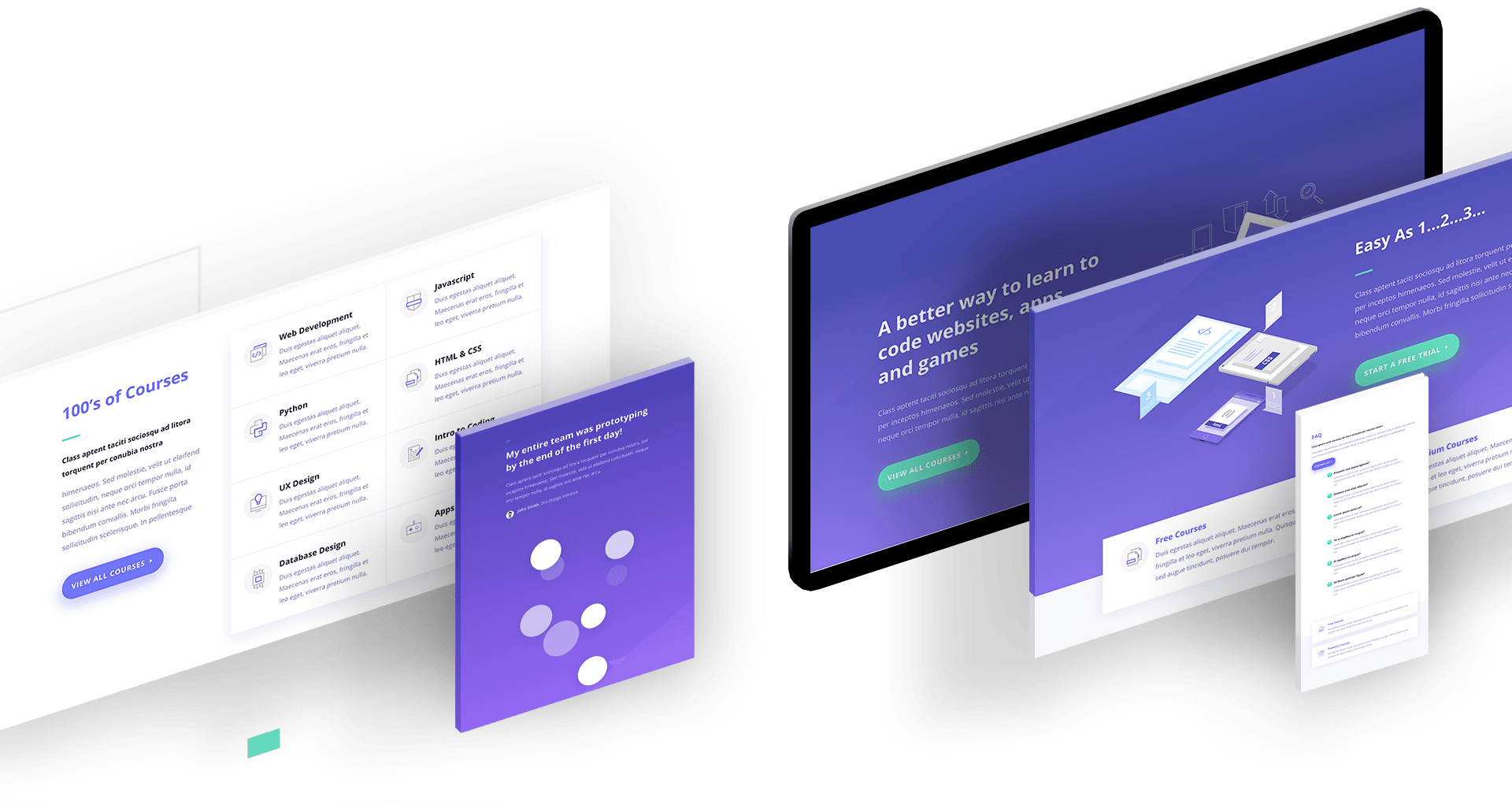 web development screens