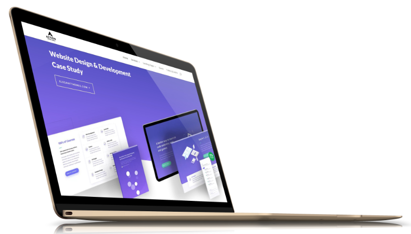 portland web design laptop graphic