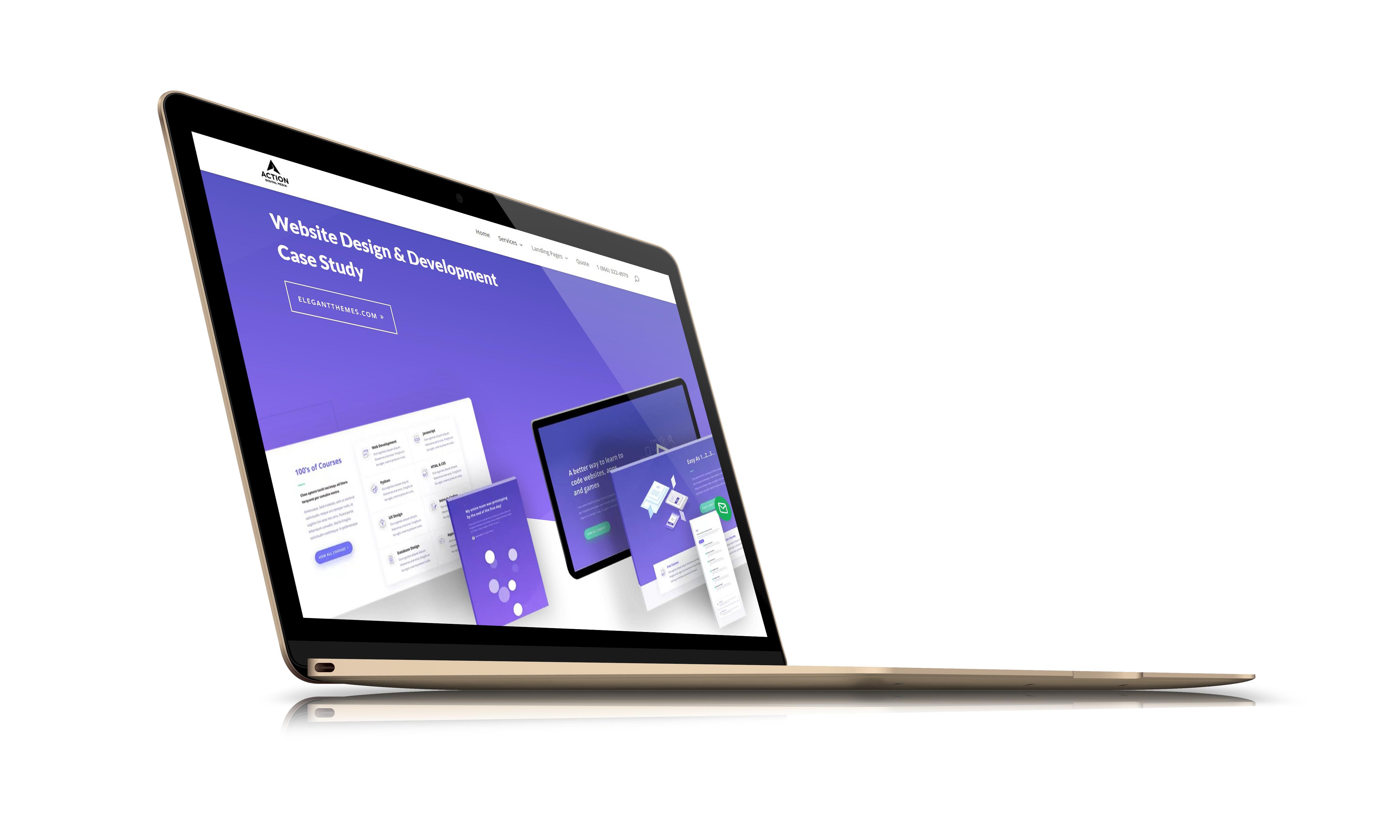 portland web development laptop graphic